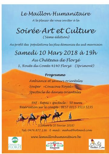 Soirée Art et Culture 2018